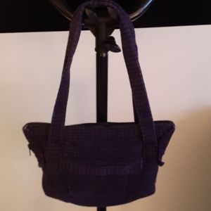Women's Purple and Black Houndstooth Purse